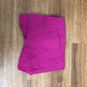 Ann Taylor Pink Textured Shorts